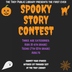 Spooky Story Contest Troy Library